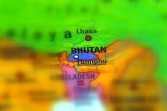 Бутан, официально королевство Бутана Стоковые Изображения