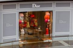 Бутик Dior Стоковое фото RF