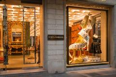 Бутик Dolce & Gabbana Стоковое Изображение RF