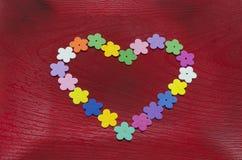 Бутоны искусственного цветка сердца форменные Стоковые Фото