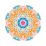 Бутон калейдоскопа большой Восточная иллюстрация картины playnig света цветка предпосылки Стоковые Фотографии RF