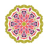 Бутон калейдоскопа большой Восточная иллюстрация картины playnig света цветка предпосылки Стоковые Фото