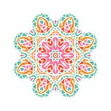 Бутон калейдоскопа большой Восточная иллюстрация картины playnig света цветка предпосылки Стоковое фото RF