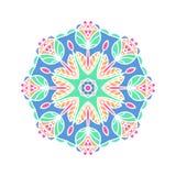 Бутон калейдоскопа большой Восточная иллюстрация картины playnig света цветка предпосылки Стоковая Фотография