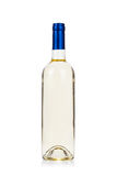 Бутылка белого вина изолированная на белизне стоковые фотографии rf