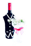Бутылка вина венчания Стоковая Фотография RF