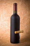 Бутылка вина и штопора Стоковое фото RF