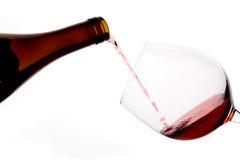 бутылка вниз красное вино Стоковые Фотографии RF