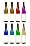 бутылка красит различное вино Стоковое Изображение