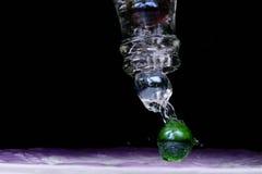 бутылка мраморизует вне Стоковое Изображение RF