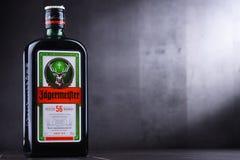 Бутылка настойки Jagermeister травяной стоковые изображения