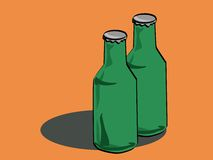 бутылка пива Иллюстрация штока