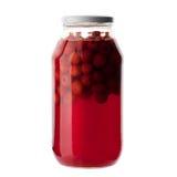 Бутылка плодоовощ сладостной вишни на белизне Стоковое Фото