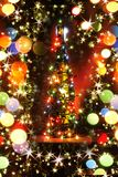бутылка спирта рождества Стоковая Фотография