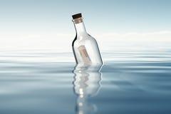 Бутылка с финансовыми отчетами Стоковая Фотография RF