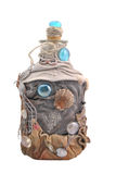 бутылка украсила handmade Стоковые Фотографии RF