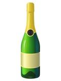 Бутылка шампанского Бесплатная Иллюстрация