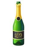 Бутылка шампанского Иллюстрация штока