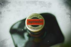 Бутылка Jagermeister сверху Стоковые Изображения RF