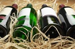 Бутылки вина в сторновке Стоковое Изображение RF