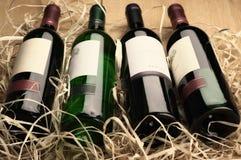 Бутылки вина в сторновке Стоковое фото RF
