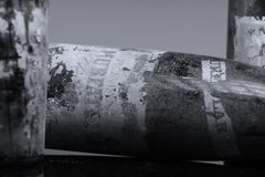 Бутылки вина Murfatlar очень старые, изолированный Стоковые Фотографии RF