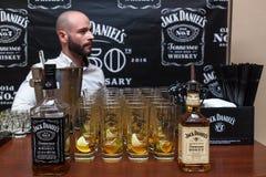 Бутылки Джек Даниель Стоковые Изображения