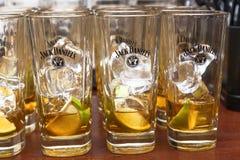 Бутылки Джек Даниель Стоковая Фотография RF
