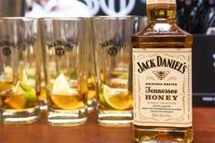 Бутылки Джек Даниель Стоковое Изображение