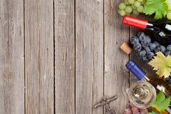Бутылки и виноградины вина Стоковая Фотография