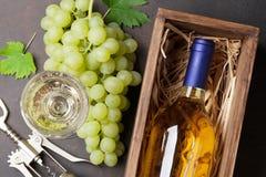 Бутылки и виноградины вина Стоковое фото RF
