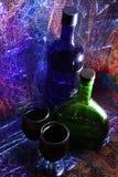 Бутылки и стекла Стоковые Изображения