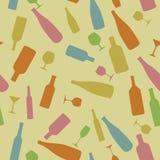 Бутылки и стекла Стоковое Изображение RF