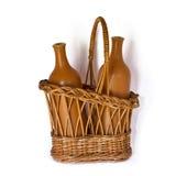 бутылки корзины Стоковые Изображения RF
