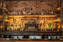 Бутылки ликера в баре Стоковая Фотография RF
