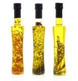 Бутылки масла на белизне Стоковая Фотография RF