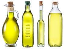 Бутылки оливкового масла Путь клиппирования Стоковые Изображения RF