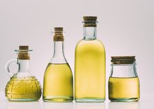Бутылки оливкового масла Стоковое Фото