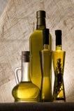 Бутылки оливкового масла Стоковые Изображения RF