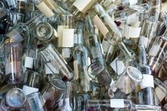 бутылки опорожняют вино Стоковое Изображение RF