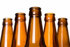 бутылки пива опорожняют стог Стоковое фото RF