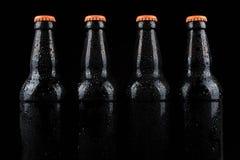 бутылки пива холодные Стоковое Изображение