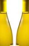 бутылки предпосылки над белым вином Стоковое Изображение