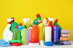Бутылки с тензидом и инструментами Стоковые Изображения RF