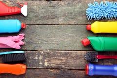 Бутылки с тензидом и инструментами Стоковая Фотография