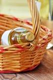 Бутылки точного итальянского белого вина Стоковая Фотография