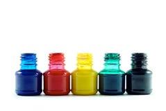 Бутылки чернил Стоковые Изображения RF