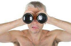 бутылки eyes держат человека стоковые изображения