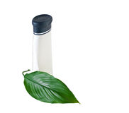 бутылочный зеленый выходит shampooand Стоковая Фотография RF