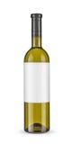 Бутылка белого вина - пути клиппирования Стоковое Изображение RF